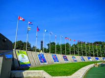 Olimpijski stadium Montreal Kanada kampus Zdjęcia Stock