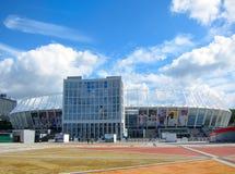 Olimpiyskiy全国体育复合体,基辅乌克兰 免版税图库摄影