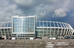 Olimpiyskiy国家体育运动复杂,基辅,乌克兰 免版税库存图片