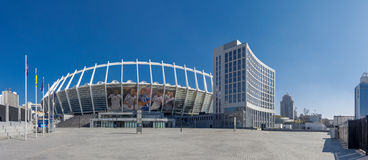 Olimpiyskiy stadium in Kyiv. Ukraine Stock Image