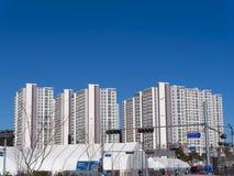 Olimpyc-Dorf Koreanische apartaments Lizenzfreie Stockfotos