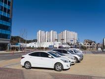 Olimpyc-Dorf Koreanische apartaments Stockfotografie