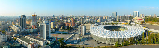 Olimpyc Stadium. Kyiv, Ukraine Stock Photos