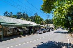 Olinda è un sobborgo nelle gamme di Dandenong, Victoria, Australia Fotografia Stock Libera da Diritti