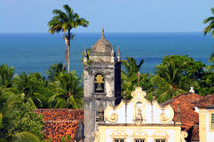 Olinda. View from Olinda/Recife city and bay. This picture shows perfectly what this city is all about: old buildings, lots of green and a beautiful sea behind Royalty Free Stock Photos