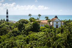 Olinda. Aerial view of Olinda in Pernambuco, Brazil on a sunny summer day Stock Images