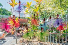 OLINDA, BRAZIL - JULY, 2018: little colorful ballerina, ballet dancers, sculptures dolls stock photography