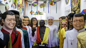 Olinda Giant Carnival Masks fotografia de stock