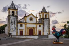 Olinda no PE, Brasil fotografia de stock