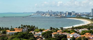 Olinda and Recife, lovely places in Brazil. Traveling is necessary. stock photo