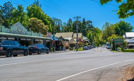Olinda is a suburb in Dandenong ranges, Victoria, Australia Stock Image