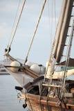 Olinowanie drewniany jacht lub żaglówka Zdjęcie Royalty Free