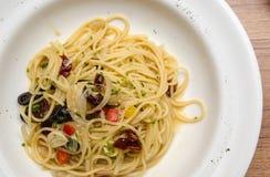 Olio Aglio e спагетти Стоковая Фотография RF