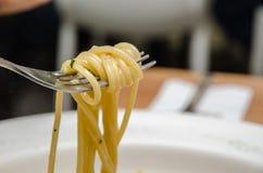 Olio Aglio e спагетти Стоковые Изображения