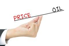 Olio contro i prezzi immagini stock