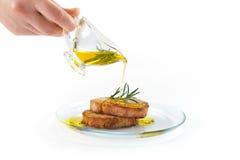 Olio d'oliva del servizio Fotografie Stock