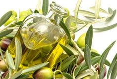 Olio d'oliva vergine extra Immagine Stock