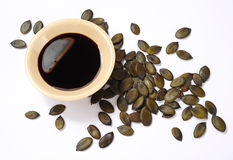 Olio del seme di zucca Fotografia Stock Libera da Diritti