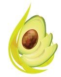 Olio dell'avocado. illustrazione di stock