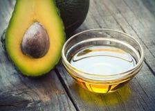 Olio dell'avocado Fotografia Stock