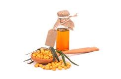 Olio dell'olivello spinoso Immagini Stock Libere da Diritti