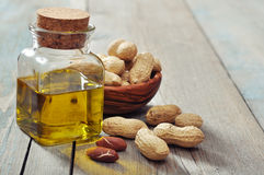 Olio di arachide Fotografie Stock Libere da Diritti