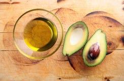 Olio di avocado, avocado Fotografia Stock Libera da Diritti