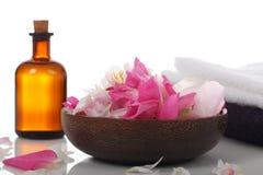 Olio di massaggio e di aromaterapia Fotografie Stock