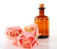 Olio di massaggio e di aromaterapia Immagini Stock