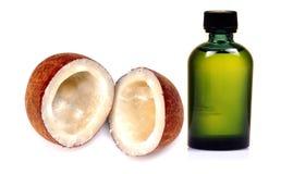 Olio di noce di cocco Fotografia Stock