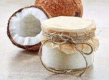 Olio di noce di cocco Immagini Stock