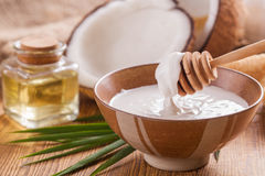Olio di noce di cocco Immagine Stock