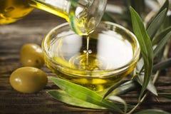 Olio di oliva Fotografie Stock Libere da Diritti