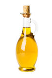Olio di oliva in bottiglia fotografie stock