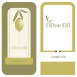 Olio di oliva/contrassegno Fotografia Stock Libera da Diritti