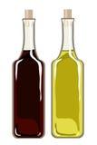Olio di oliva ed aceto balsamico royalty illustrazione gratis