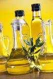 Olio di oliva ed olive, di olivo Fotografia Stock
