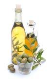 Olio di oliva fresco immagine stock