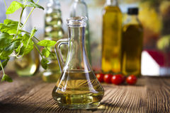 Olio di oliva fresco fotografia stock