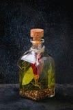 Olio di oliva piccante Immagini Stock Libere da Diritti