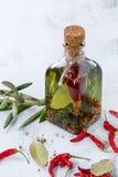 Olio di oliva piccante Fotografie Stock