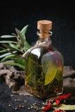 Olio di oliva piccante Fotografia Stock Libera da Diritti