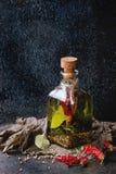 Olio di oliva piccante Immagine Stock Libera da Diritti