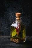 Olio di oliva piccante Fotografie Stock Libere da Diritti