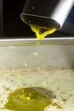 Olio di oliva vergine supplementare Fotografia Stock
