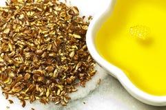 Olio di seme di lino Immagine Stock