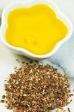 Olio di seme di lino Fotografia Stock Libera da Diritti