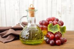 Olio di semi dell'uva Fotografia Stock