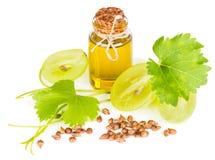 Olio di semi organico dell'uva Fotografia Stock Libera da Diritti