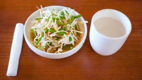 Olio di sesamo dell'insalata del Giappone Fotografia Stock